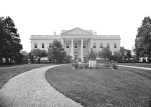 Thw White House, in an old black and white photo