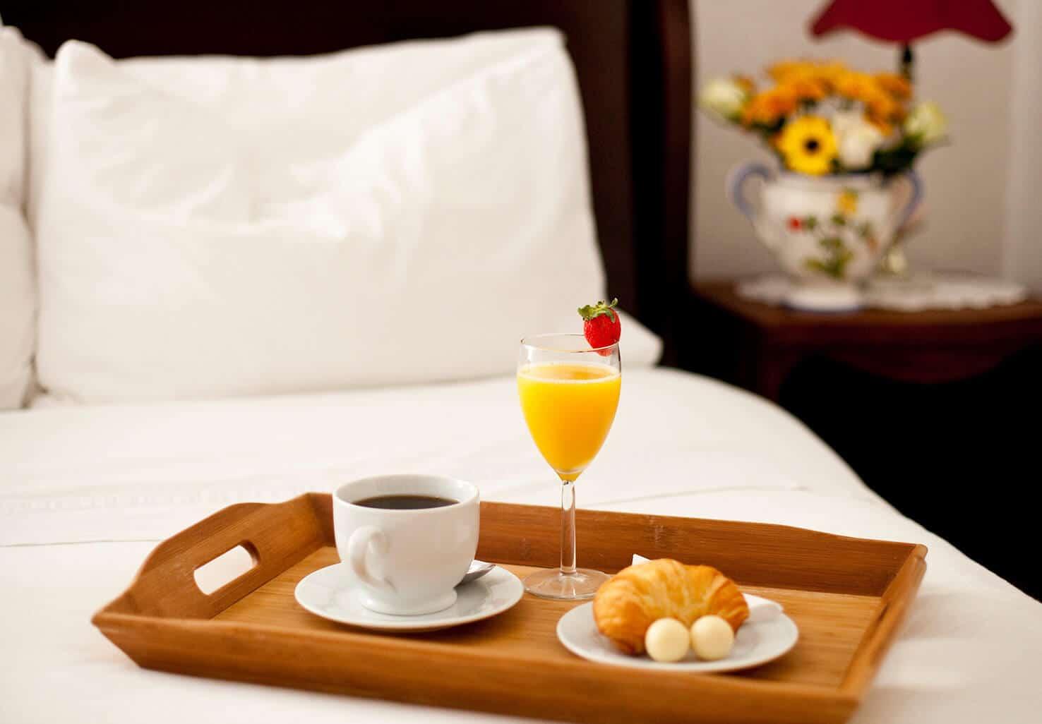 Breakfast in Bed at a Washington DC Inn