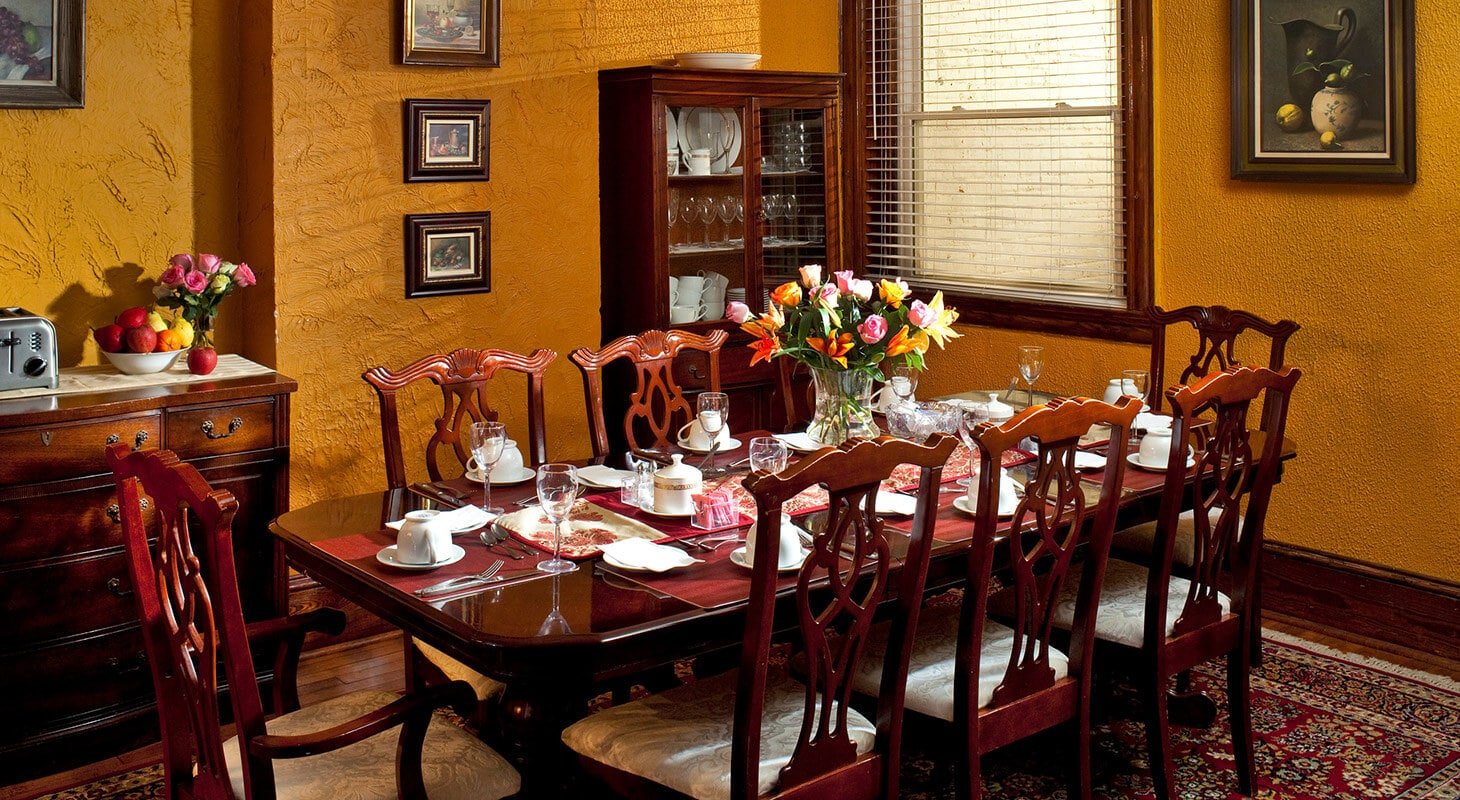 Dining room at American Guest House