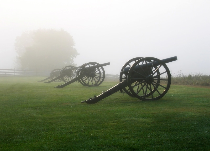 Cannons at Antietam