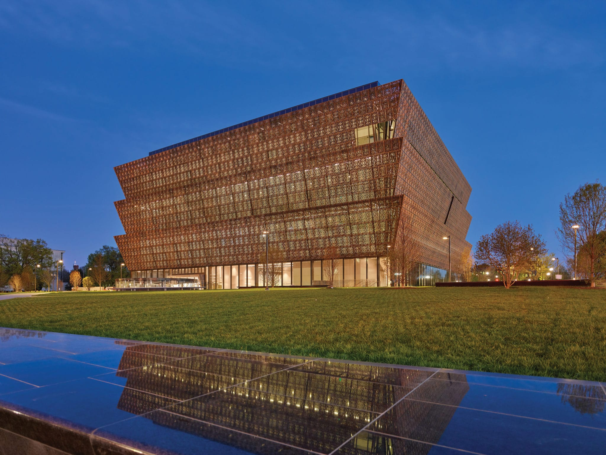 NMAAHC Exterior (Credit to Smithsonian Institution, National Museum of African American History and Culture Architectural Photrography/Douglas Remley - Smithsonian)
