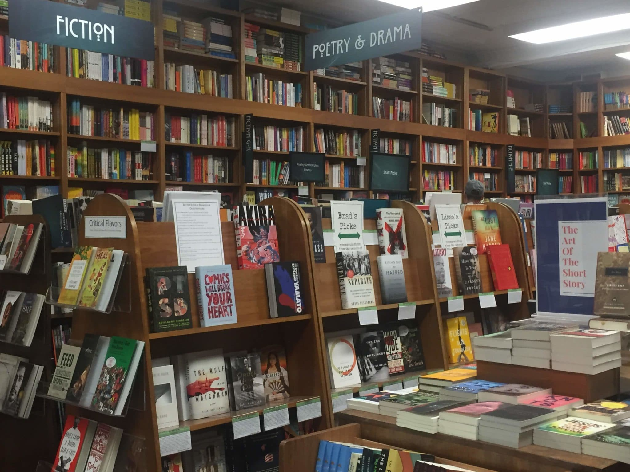 Poetry & Drama section of Politics and Prose