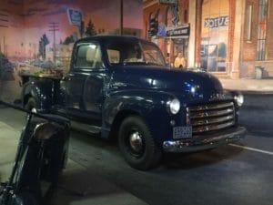Vintage blue truck
