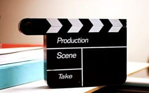 Movie production sign