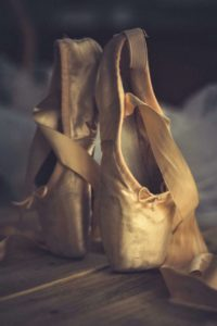 Close up of empty ballet shoes
