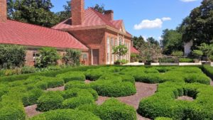 The garden at Mount Vernon is pictured above.