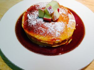 Pumpkin Ricotta Pancakes with a Apple Cider Syrup 2 11-7-14
